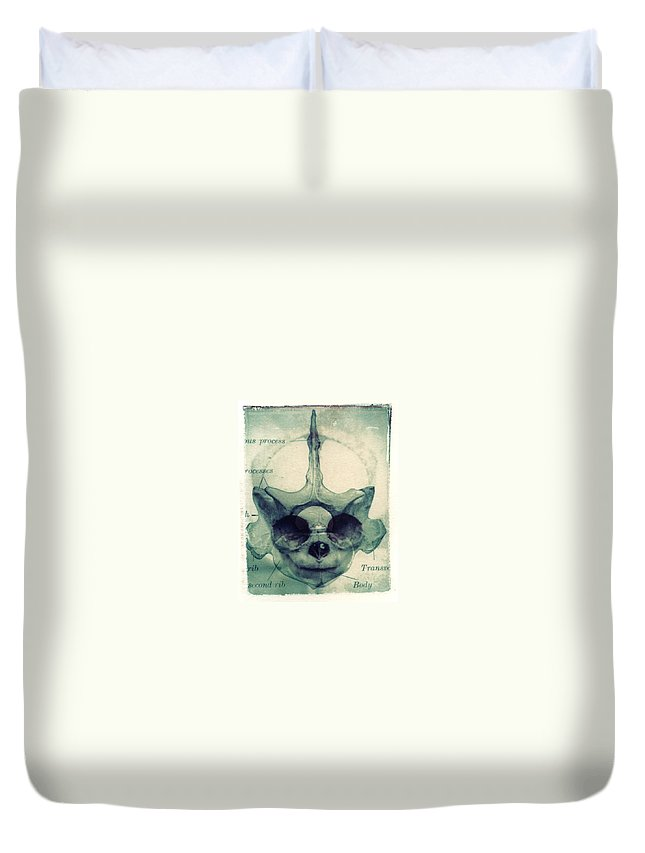 Polaroid Transfer Duvet Cover featuring the photograph X Ray Terrestrial No. 13 by Jane Linders