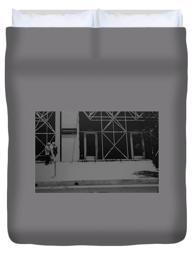 Black And White Duvet Cover featuring the photograph X by Rob Hans
