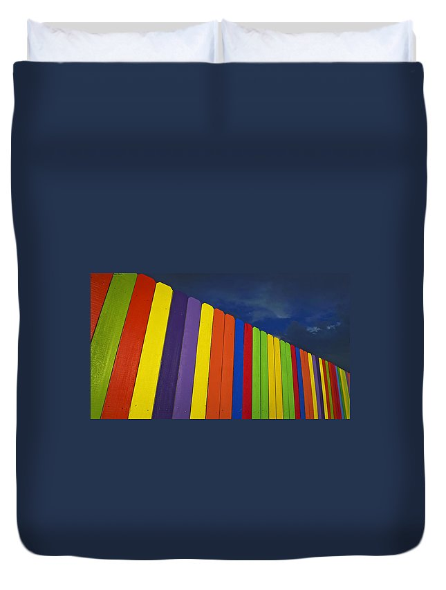 Xylophone Duvet Cover featuring the photograph Xylophone by Skip Hunt