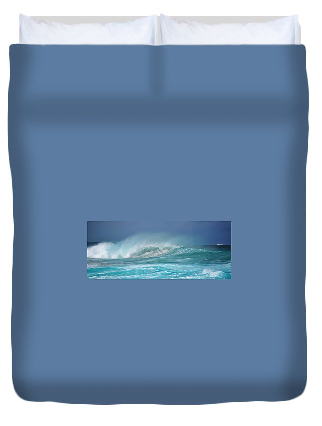 Landscape Duvet Cover featuring the photograph Yallingup Surf Australia by Phill Petrovic