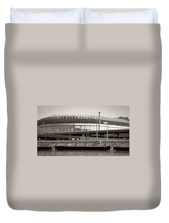 Yankees Duvet Cover featuring the photograph Yankee Stadium  1923 - 2008 by Daniel Hagerman