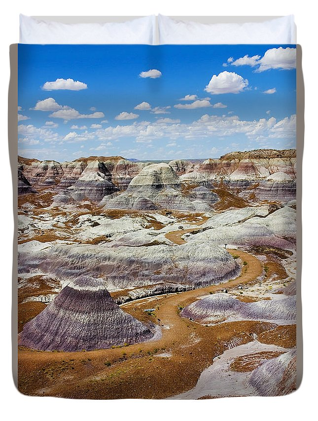Painted Desert Duvet Cover featuring the photograph Yea Though I Walk by Skip Hunt