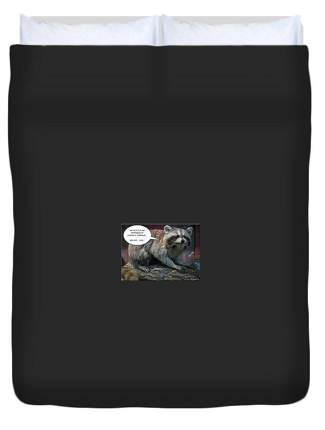 2d Duvet Cover featuring the photograph Yeah See by Brian Wallace