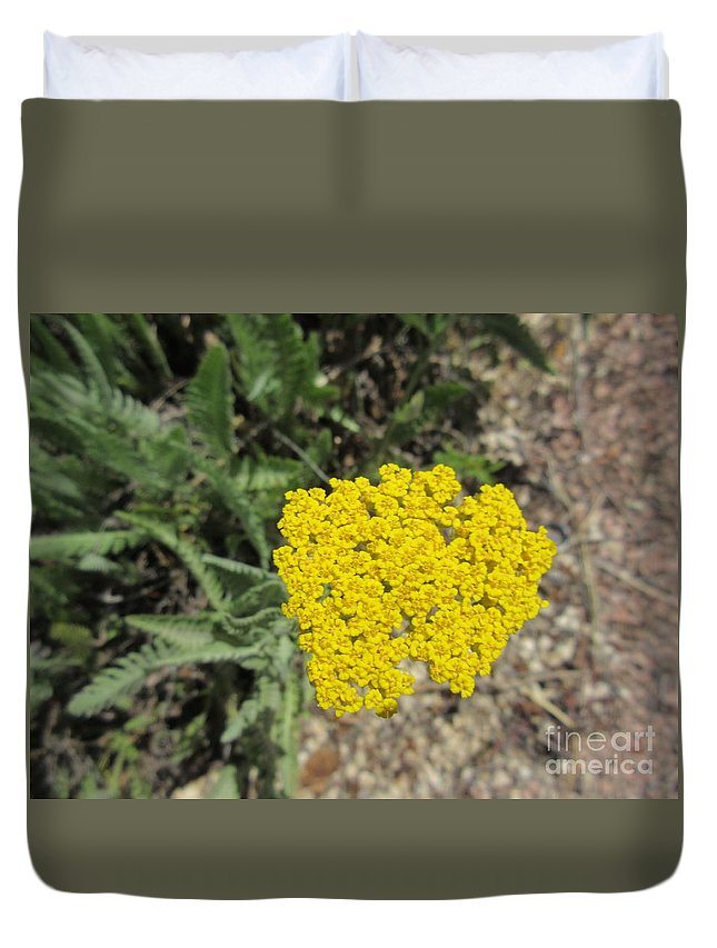Yellow Duvet Cover featuring the photograph Yellow Bloom by Frederick Holiday