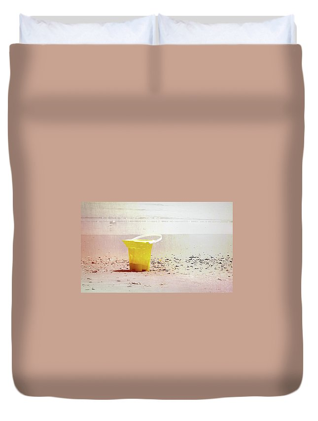 Ocean Duvet Cover featuring the photograph Yellow Bucket by JAMART Photography