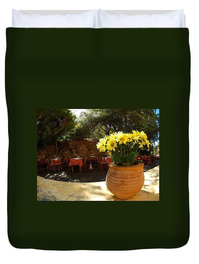 Chrysanthemum Duvet Cover featuring the photograph Yellow Chrysanthemum by Jouko Lehto