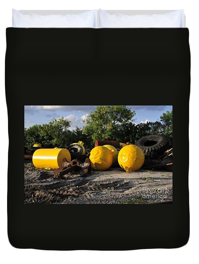 Yellow Duvet Cover featuring the photograph Yellow by David Lee Thompson