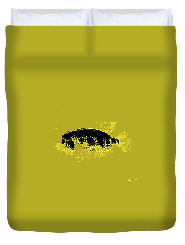 Yellow Fish Duvet Cover featuring the photograph Yellow Fish by Edward Smith