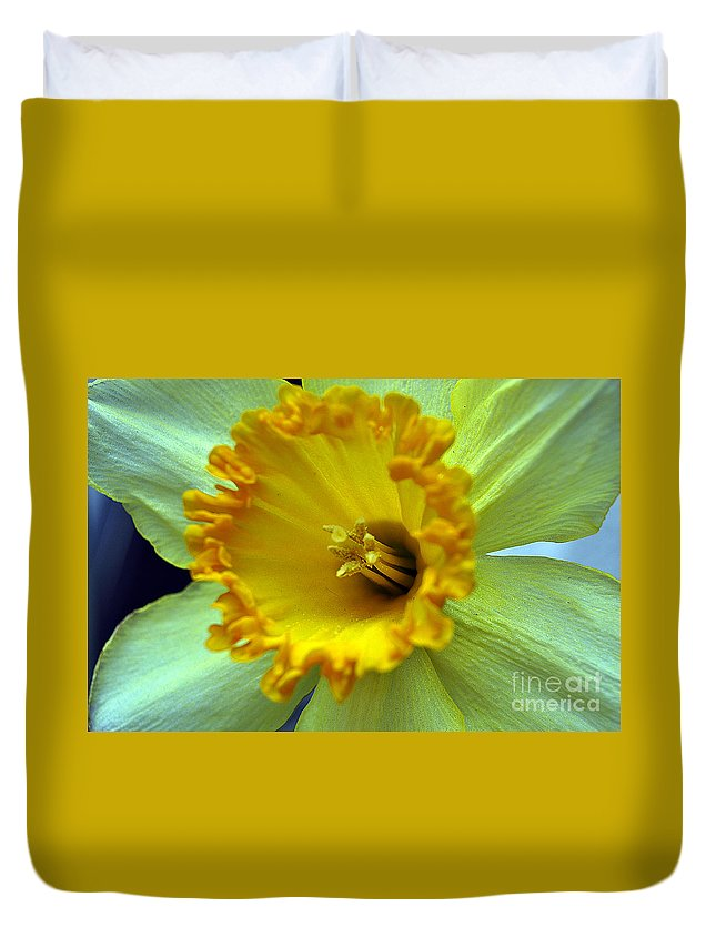 Clay Duvet Cover featuring the photograph Yellow Floral by Clayton Bruster