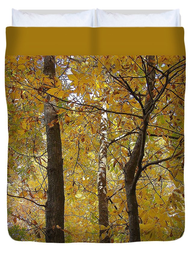 Duvet Cover featuring the photograph Yellow Magic by Luciana Seymour