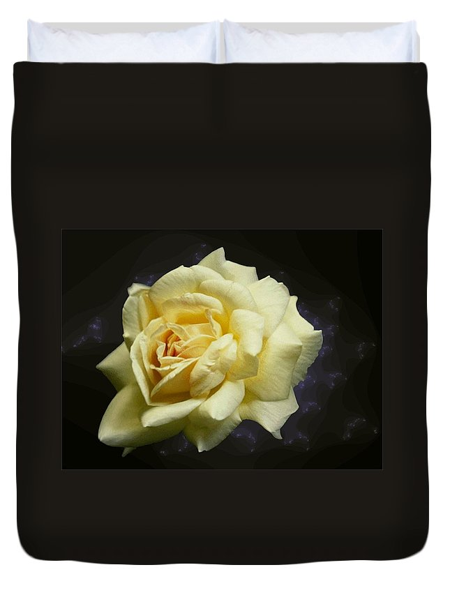 Yellow Rose Duvet Cover featuring the photograph Yellow Rose 2 by Tim Allen