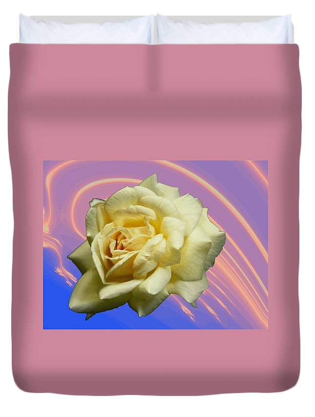 Rose Duvet Cover featuring the photograph Yellow Rose 3 by Tim Allen