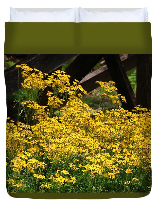 Yellow Duvet Cover featuring the photograph Yellows by Kathryn Meyer