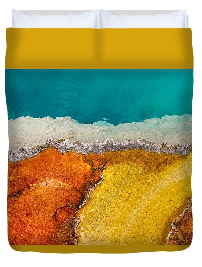 Pool Duvet Cover featuring the photograph Yellowstone Pool by Grant Groberg