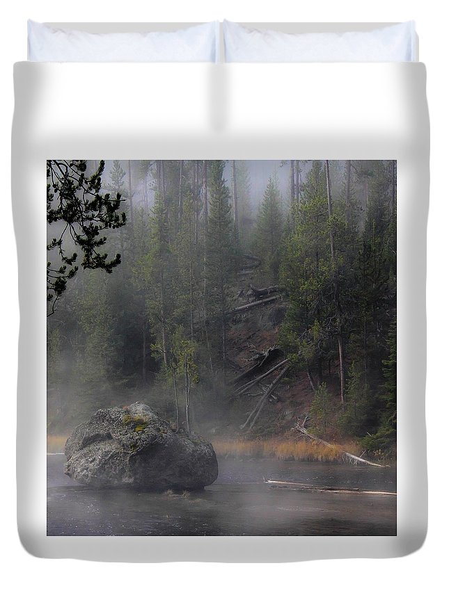 Parks Duvet Cover featuring the photograph Yellowstone Series 12 by Ron Latimer