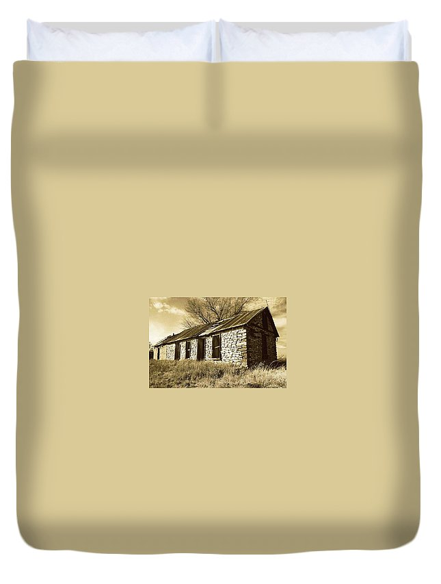 New Mexico Duvet Cover featuring the photograph Yeso New Mexico 1 by Nelson Strong