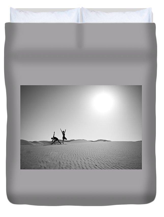 Yoga Duvet Cover featuring the photograph Yoga Landscape by Scott Sawyer