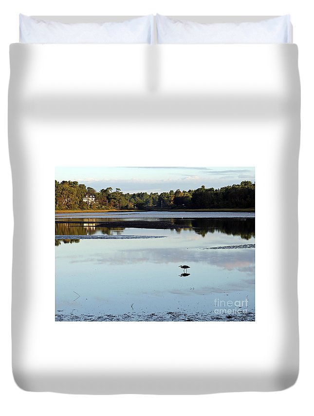 York Duvet Cover featuring the photograph York River, Maine by Steve Gass