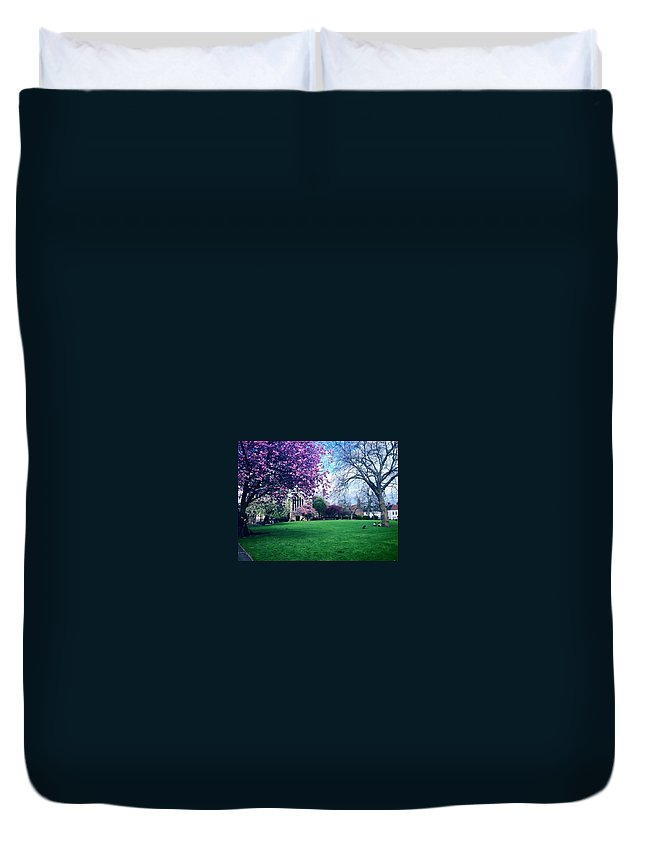 York Duvet Cover featuring the photograph York by Rossana Azzoni