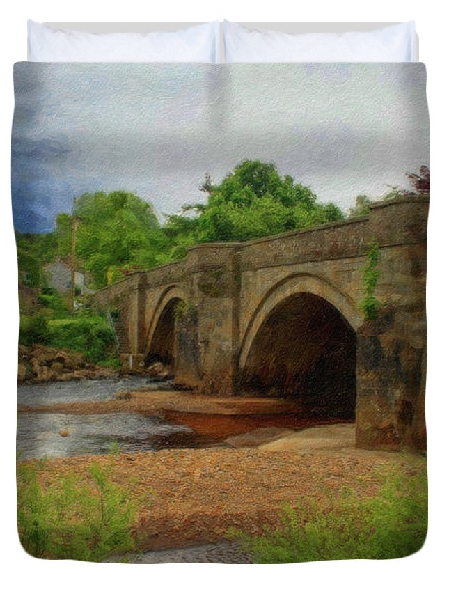 Dean Wittle Duvet Cover featuring the painting Yorkshire Bridge - P4a16015 by Dean Wittle