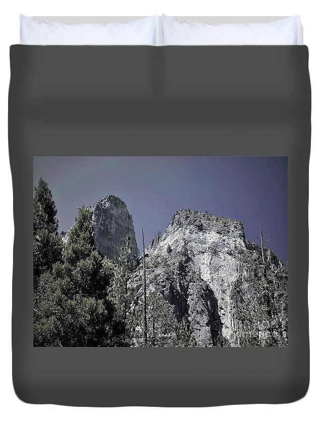 Duvet Cover featuring the photograph Yosemite by Cat Pancake