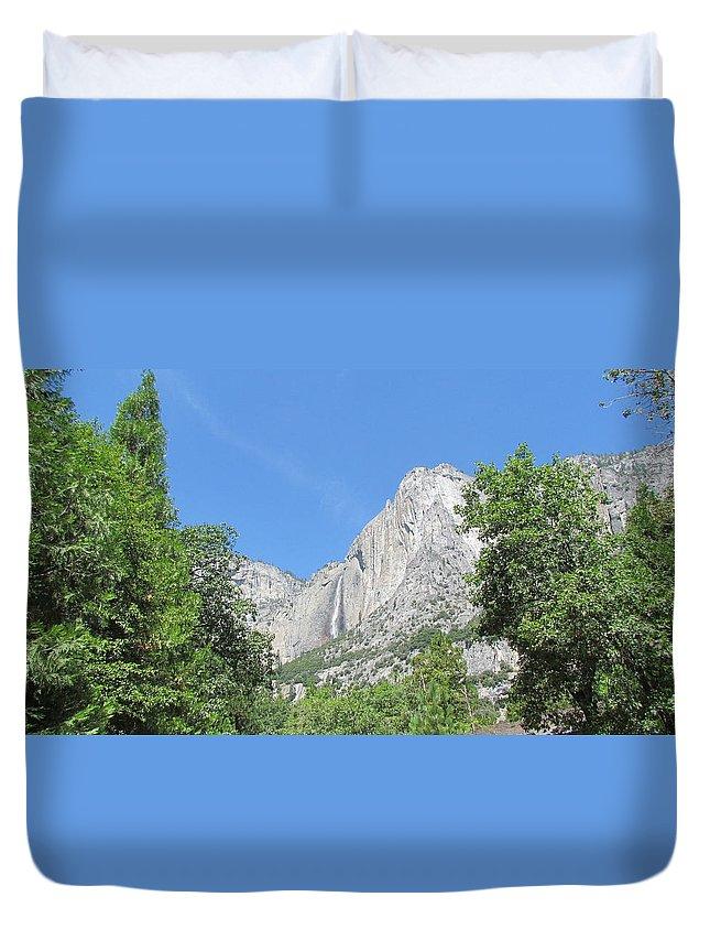 Yosemite Falls Duvet Cover featuring the photograph Yosemite Falls Again by Derek Ryan Jensen