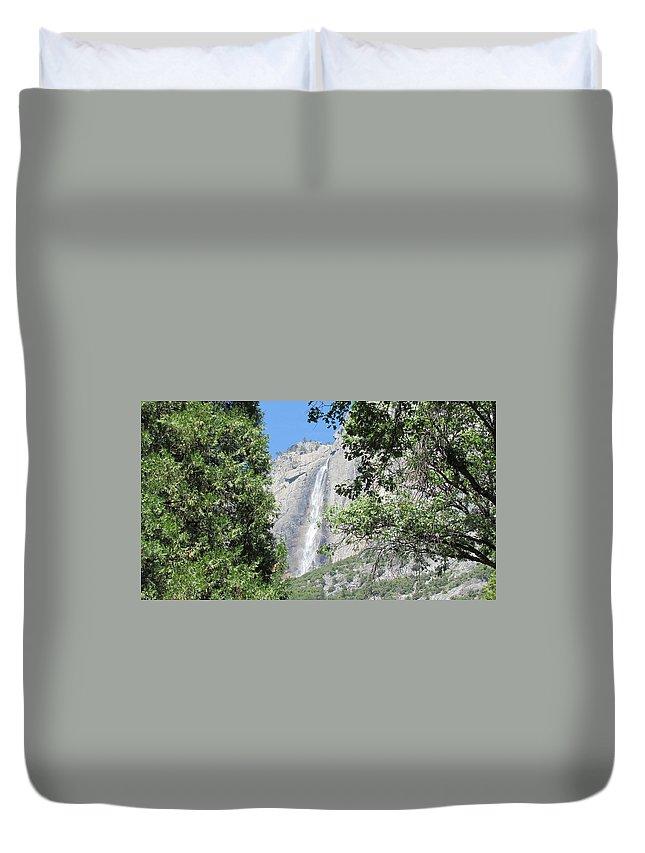 Yosemite Falls Duvet Cover featuring the photograph Yosemite Falls by Derek Ryan Jensen