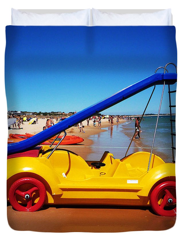 Noddy Car Duvet Cover featuring the photograph You Are What You Drive by Charles Stuart