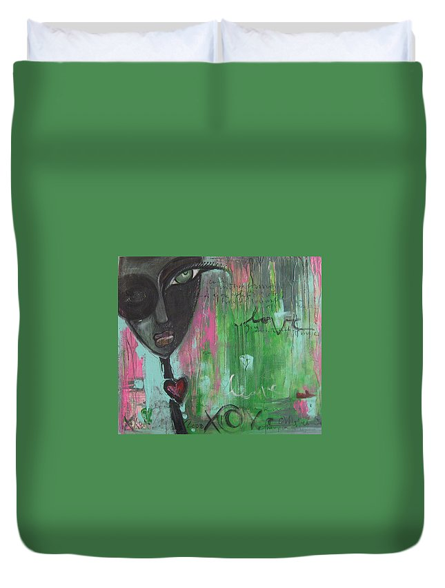 Figurative Duvet Cover featuring the painting You Cant Ask For More by Laurie Maves ART
