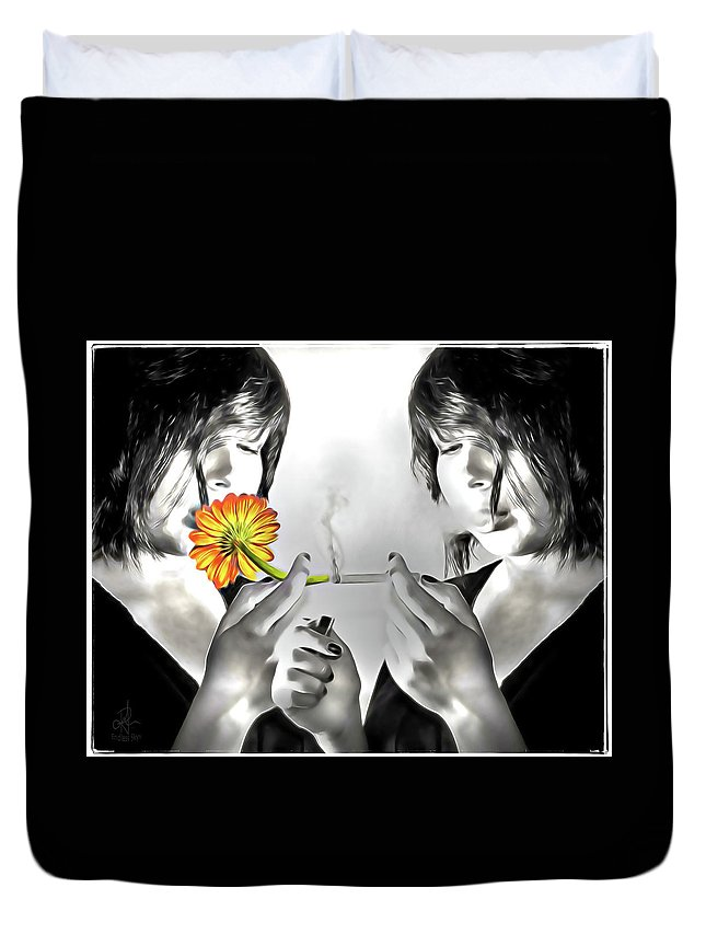 Daisy Duvet Cover featuring the photograph You Choose by Pennie McCracken