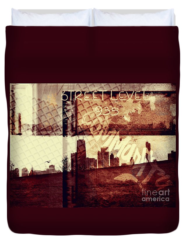 Chicago Duvet Cover featuring the photograph You Held My Hand Softly Through The Humid Summer Streets by Dana DiPasquale