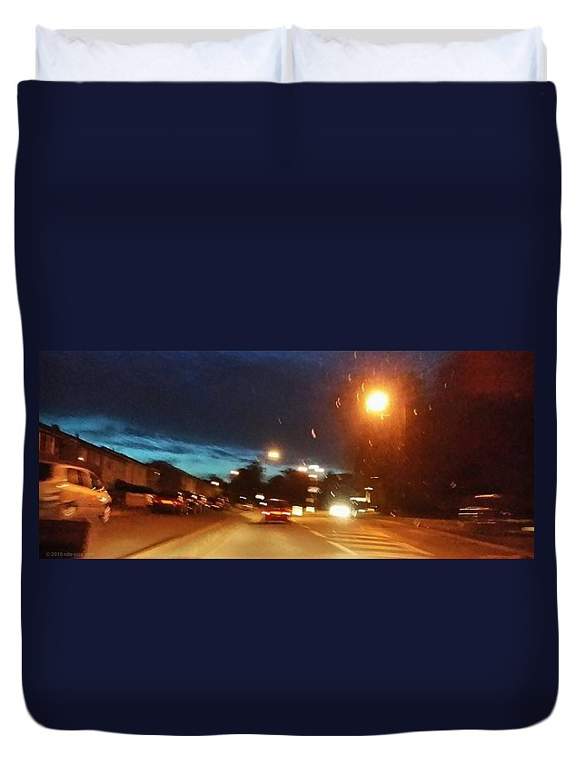 Night Duvet Cover featuring the photograph You Need To Stay Focused by Nite Pics