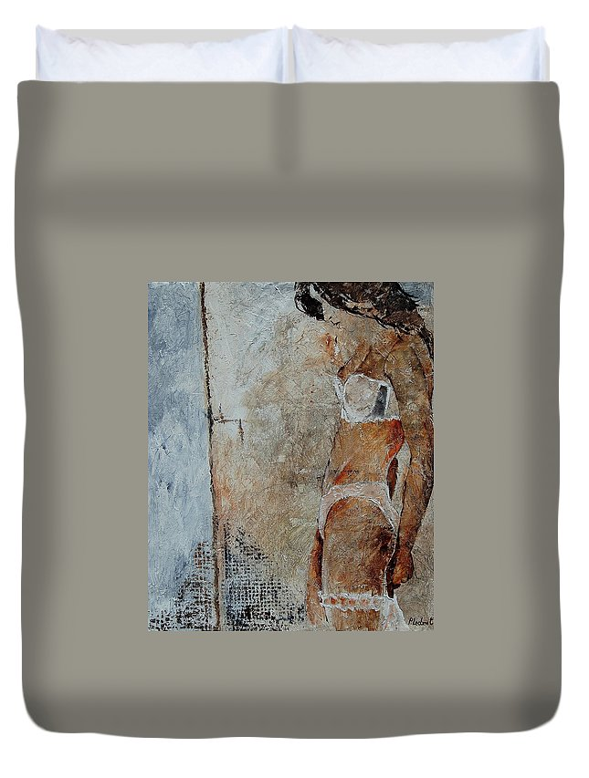 Duvet Cover featuring the painting Young Girl 572563 by Pol Ledent
