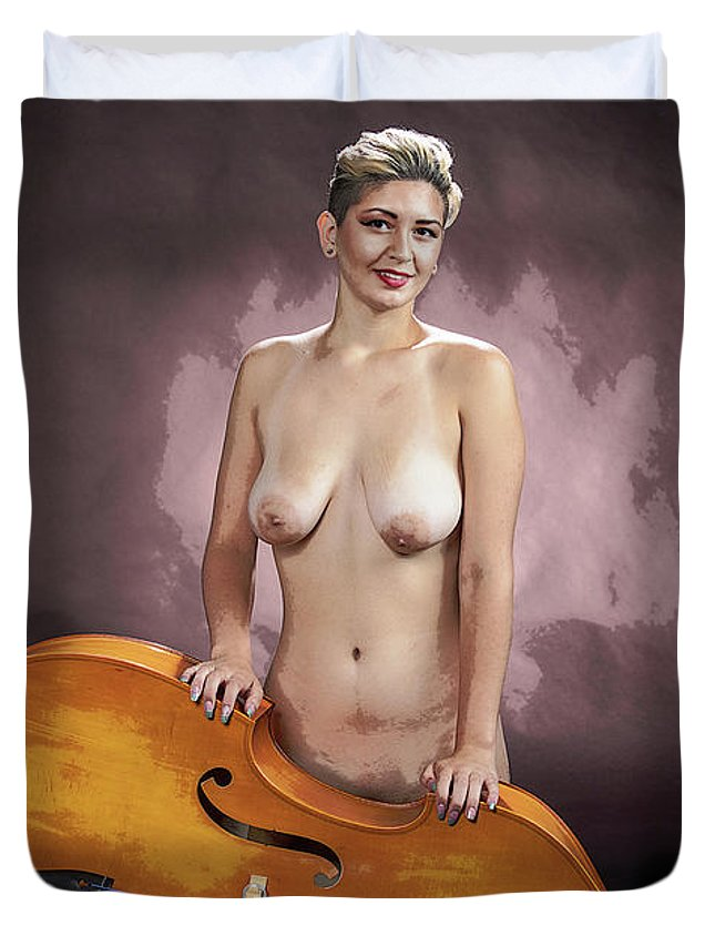 Nude Duvet Cover featuring the photograph Young Woman Nude 1729.200 by Kendree Miller