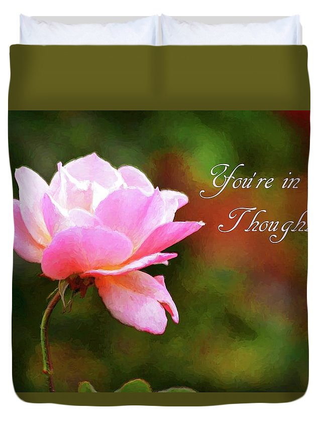 Carol R Montoya Duvet Cover featuring the photograph Your In My Thoughts Painting by Carol Montoya