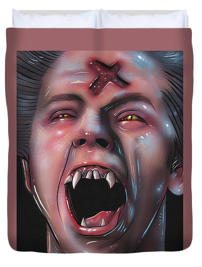 Fright Night Duvet Cover featuring the painting You're So Cool Brewster by Jason Wright