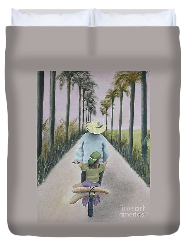 Tropical Duvet Cover featuring the painting You're The Best by Kris Crollard