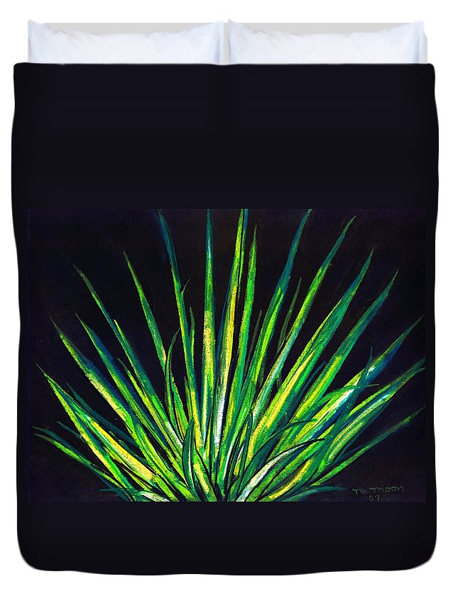 Yucca Duvet Cover featuring the drawing Yucca by Melvin Moon