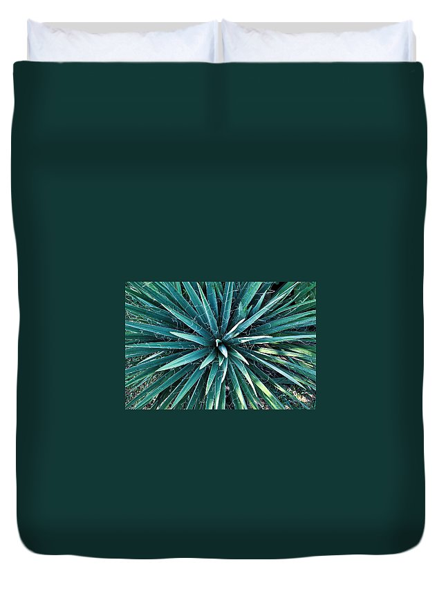 Yucca Duvet Cover featuring the photograph Yucca Plant Detail by Douglas Barnett