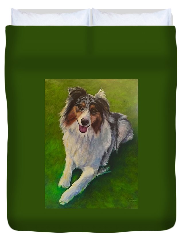 Yuki Duvet Cover featuring the painting Yuki by Shannon Grissom