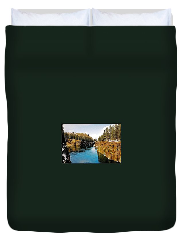 North America Duvet Cover featuring the photograph Yukon River And Miles Canyon - Whitehorse by Juergen Weiss