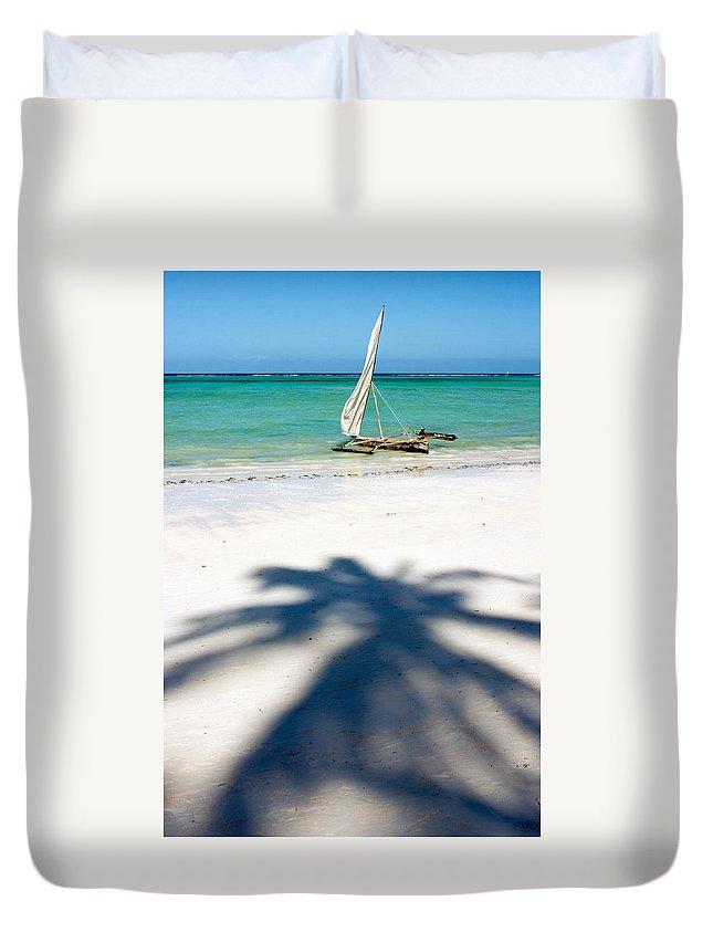 3scape Duvet Cover featuring the photograph Zanzibar Beach by Adam Romanowicz