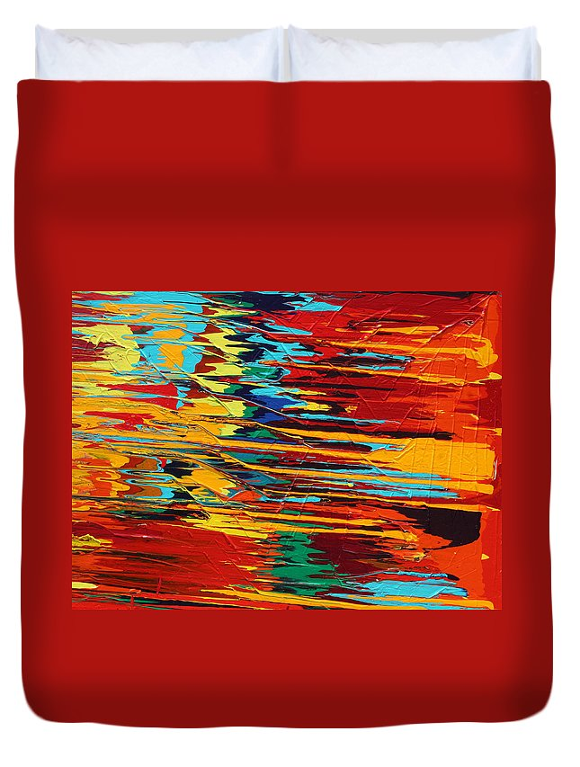 Fusionart Duvet Cover featuring the painting Zap by Ralph White