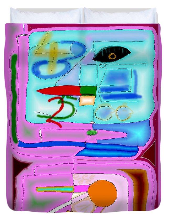 Zapp Duvet Cover featuring the digital art Zapp by Helmut Rottler