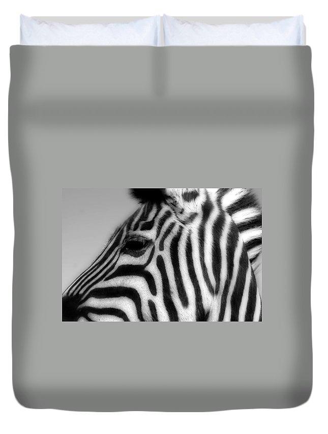 Zebra Duvet Cover featuring the photograph Zebra II by Christine Hauber