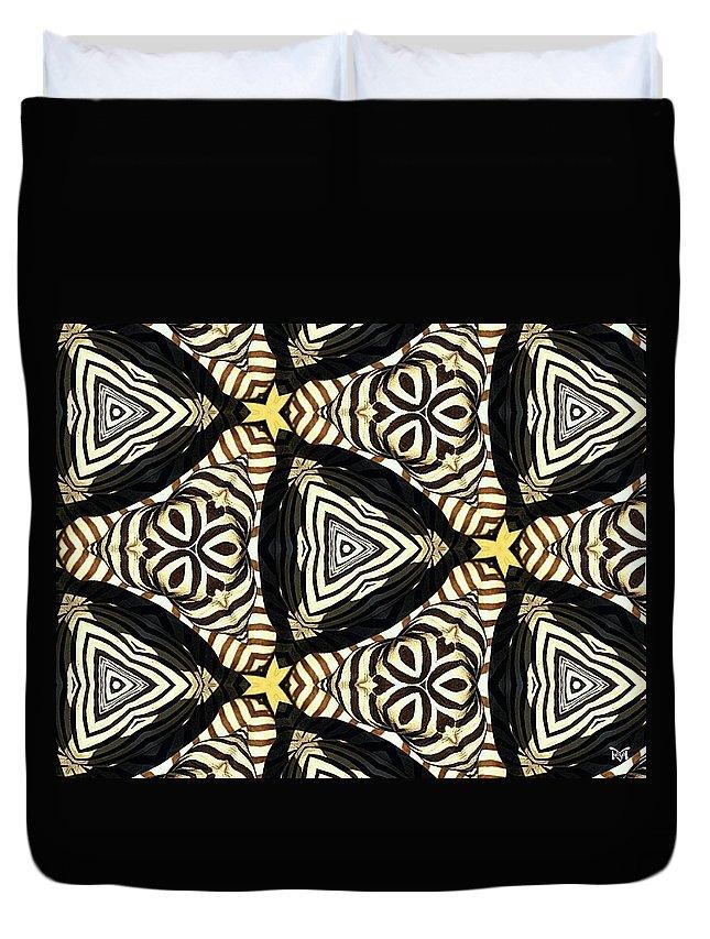 Digital Duvet Cover featuring the digital art Zebra Iv by Maria Watt