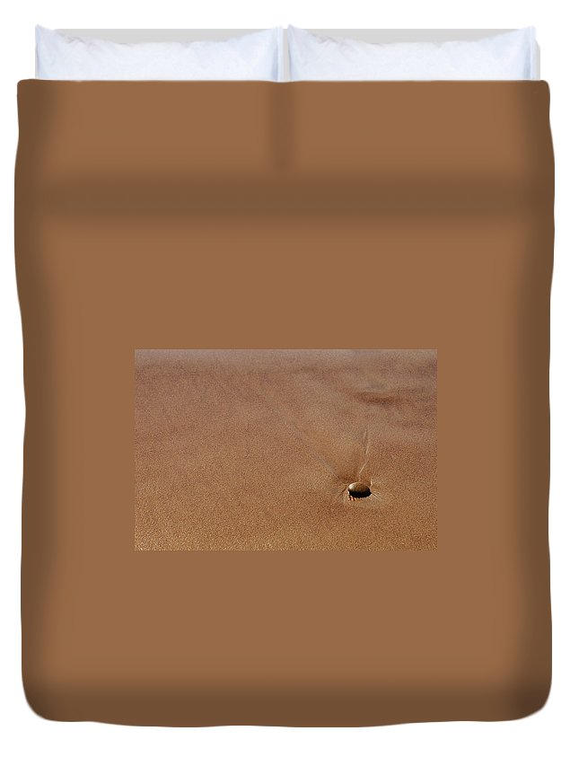 Clay Duvet Cover featuring the photograph Zen At The Beach by Clayton Bruster