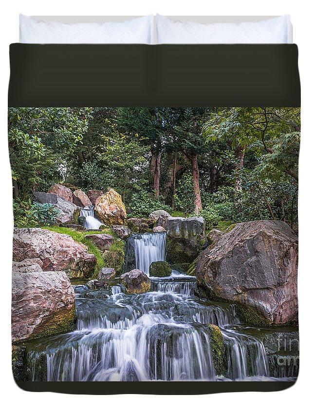 Zen Garden Duvet Cover featuring the photograph Zen Garden by Andrea Shuttleworth