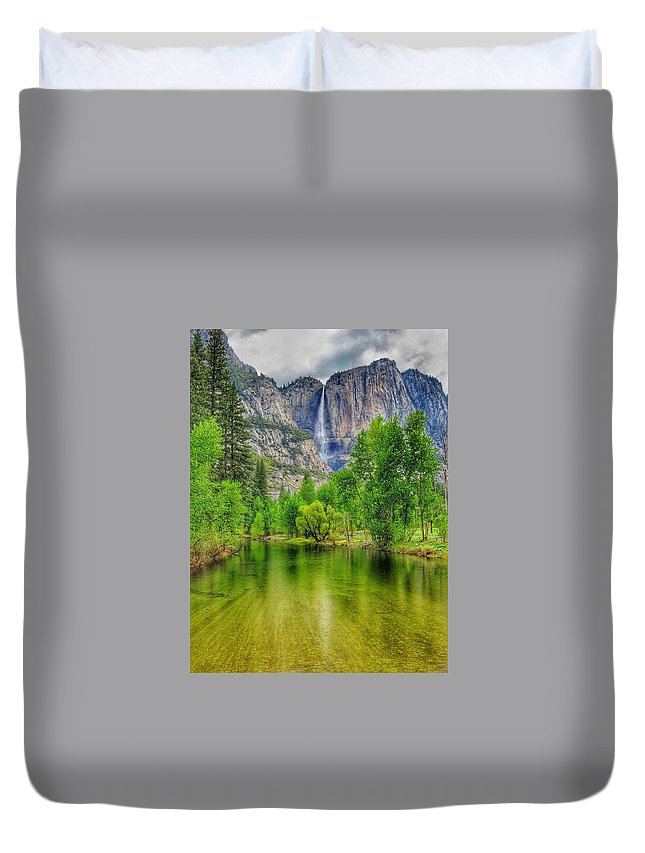 River Duvet Cover featuring the photograph Zen River by Ian Tolmie