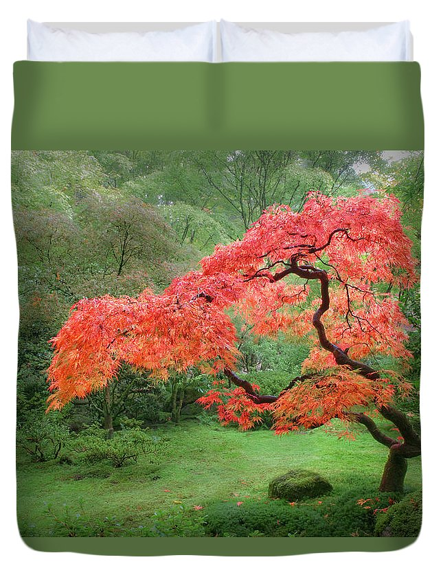 Zen Duvet Cover featuring the photograph Zen Tree by Lori Grimmett